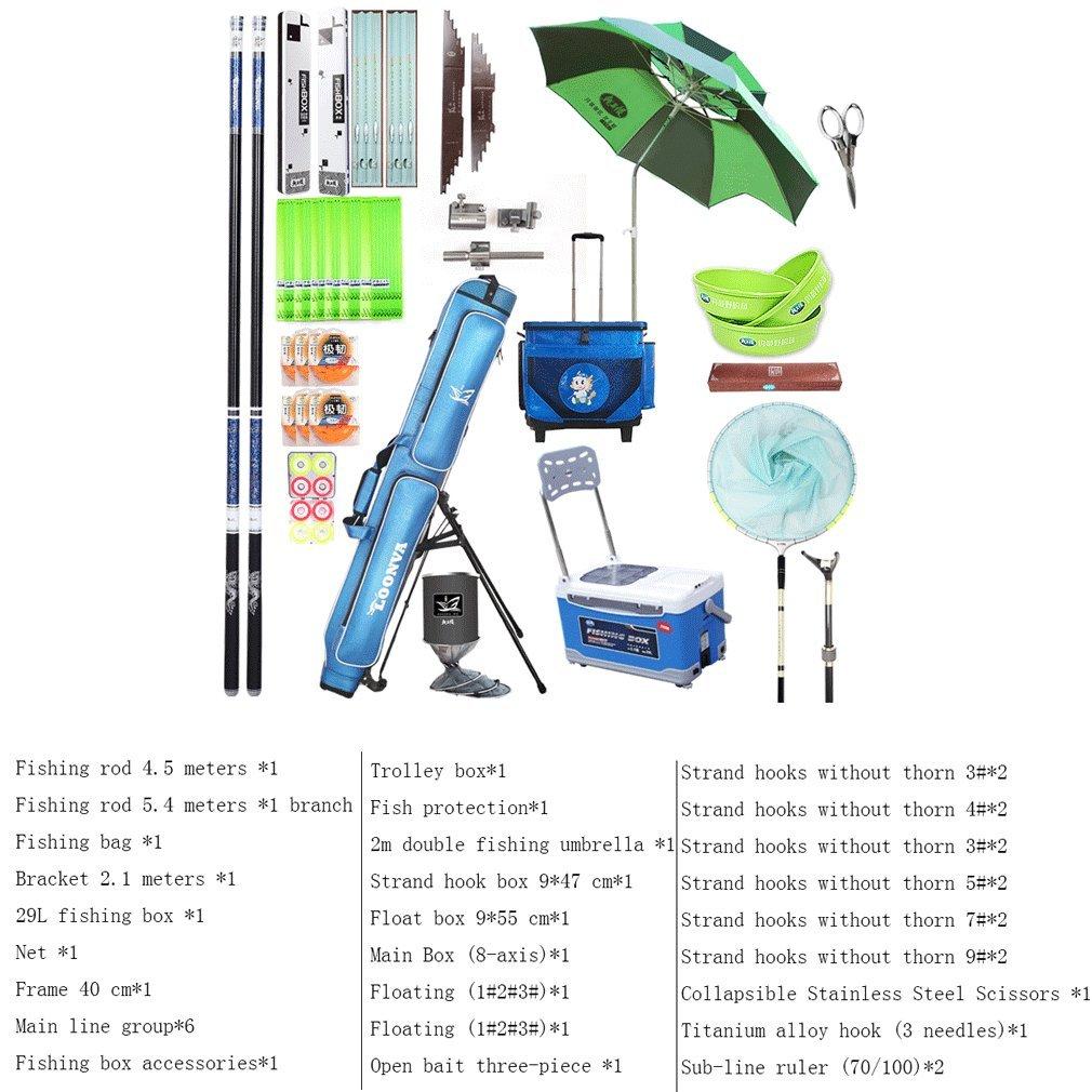 HUWAI Ältere Angelrute Anzug Angelrute Angelrute Carbon Angelrute Netzfischen Kit Angeln Lieferungen XQQQ
