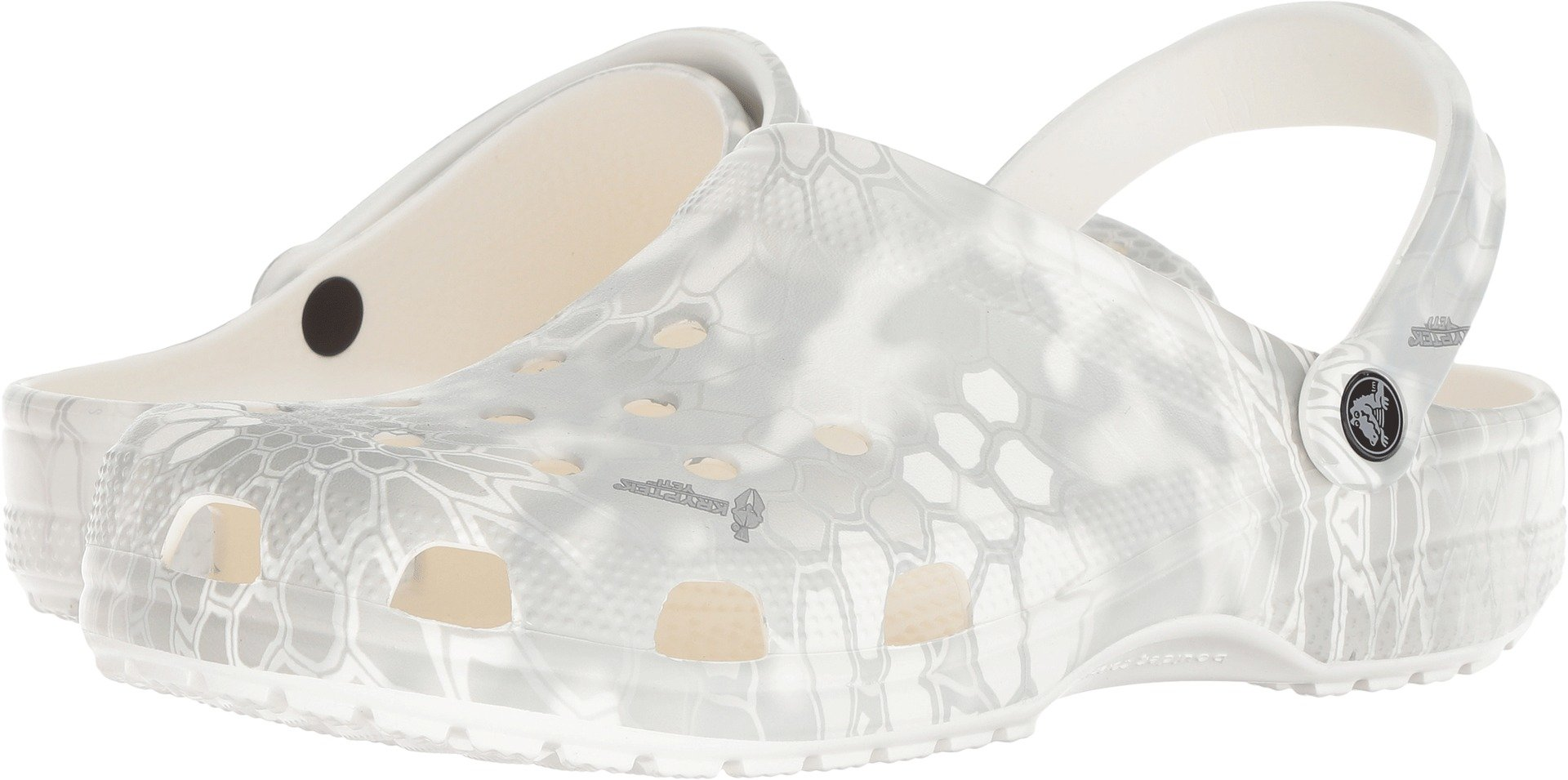 Crocs Unisex Classic Kryptek Yeti Clog White 8 Women / 6 Men M US