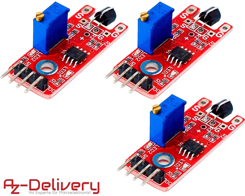 AZDelivery 3 x KY-036 Módulo de sensor táctil para Arduino con ...