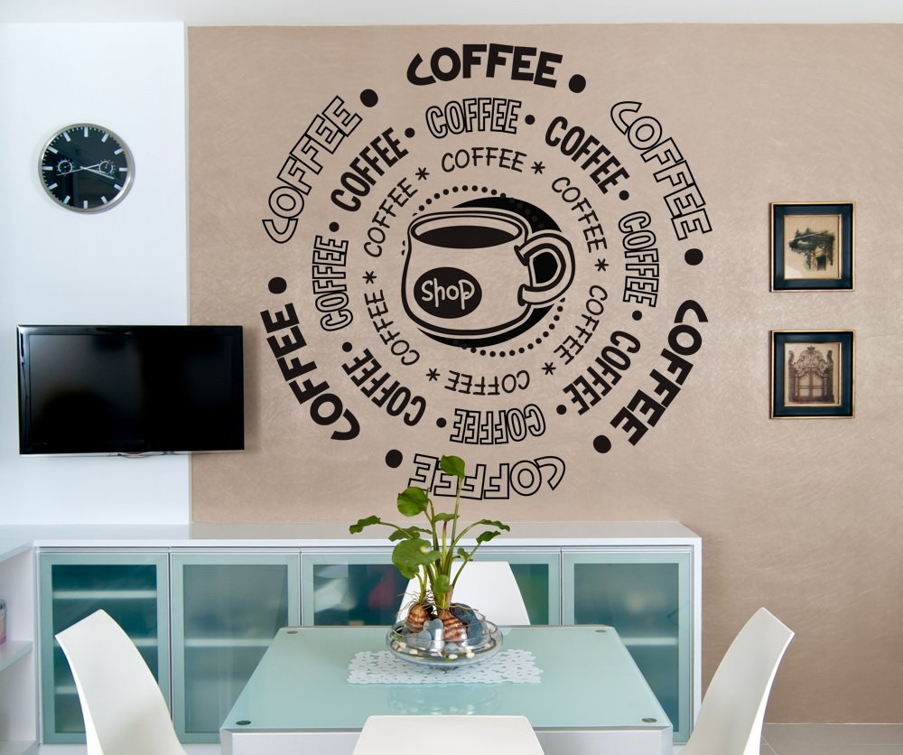Amazoncom Vinyl Wall Decal Sticker Coffee Shop OSDCs Home - Custom vinyl wall decals coffee