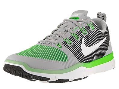 Nike Mens Free Train Versatility Training Shoes (Sz. 9) Wolf Grey, White, Rage Green
