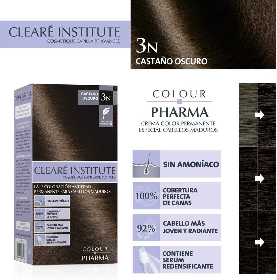 Colour Pharma Tinte Sin PPD ni Amonicaco   Coloración Antiedad   100% Cobertura de Canas Rebeldes, Con Serum Redensificante   3N. Castaño Oscuro   ...