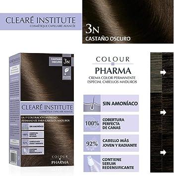 Colour Pharma|Tinte Sin PPD ni Amonicaco | Coloración Antiedad | 100% Cobertura de Canas Rebeldes, Con Serum Redensificante | 3N. Castaño Oscuro | ...