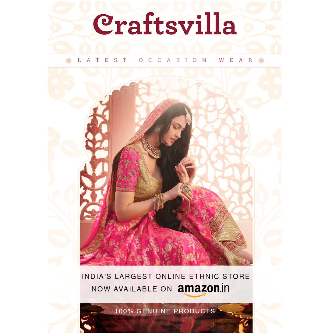 Craftsvilla Art Silk Saree With Blouse Piece