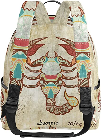 Pisces Zodiac Sign Stars Constellation On Nebula Casual Backpack Waterproof Laptop Backpack for Men Women Daypack