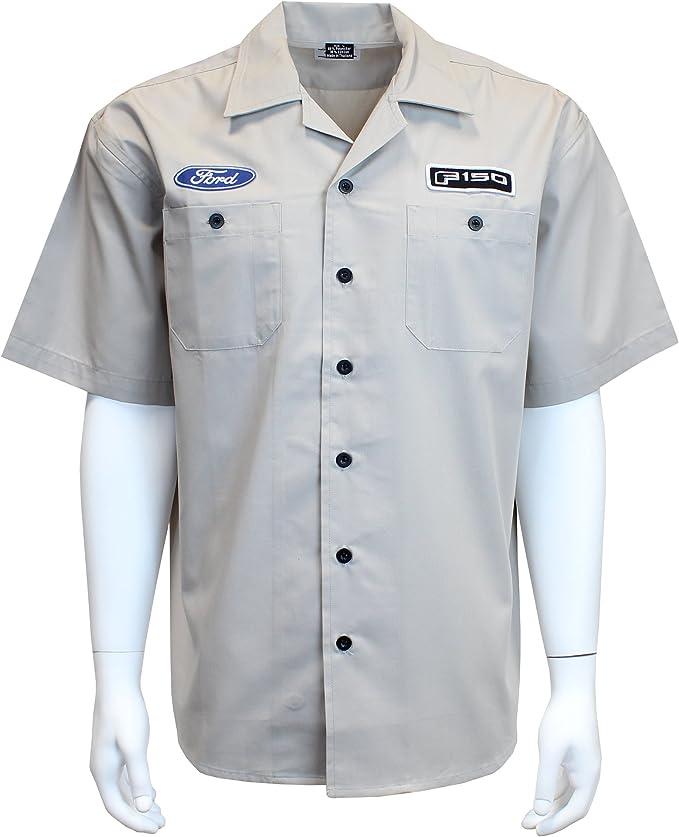 David Carey Originals Mopar Chrysler Pentastar Pit Crew Button Up Mechanic Shirt Red White Blue