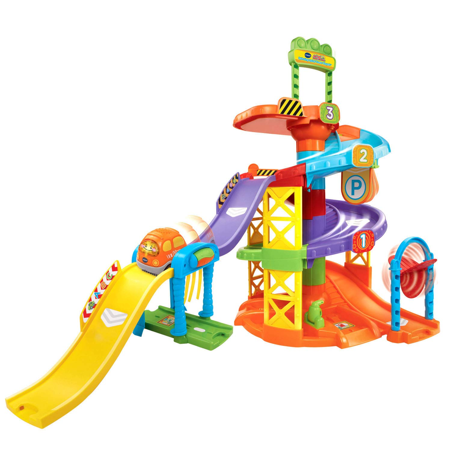 VTech Go! Go! Smart Wheels Spinning Spiral Tower Playset Multicolor, 12.60 x 20.67 x 28.15 Inches