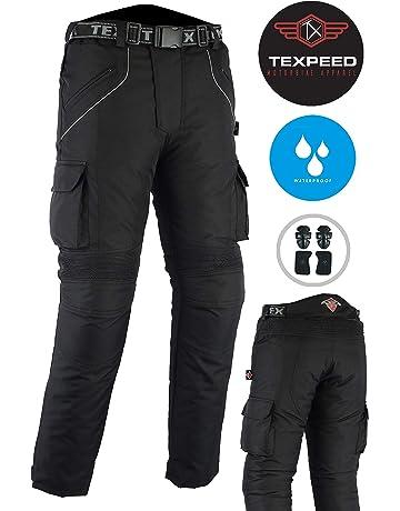Hommes Noir CE Renforcé Pantalon Moto Textile Imperméable M 7XL FR