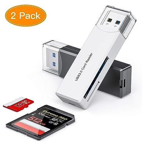 Honmax Lector Tarjetas de Memoria SD/Micro SD, Adaptador Micro SD y Lector de Ttarjetas USB 3.0 para Computadora/Laptop/Tableta, Compatible con ...