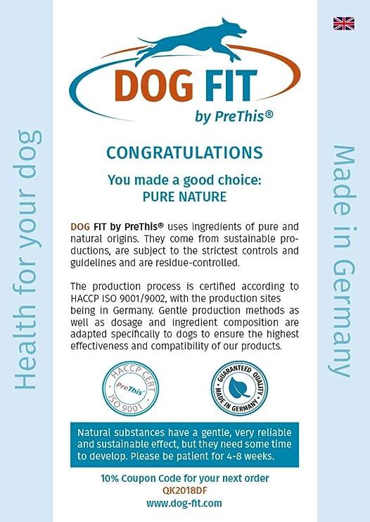 Dog FIT de PreThis® IMMUN Calostrum para Perros | Apoya el Sistema inmunológico | Fortalecimiento para Perros jóvenes y Viejos | 100% Naturaleza