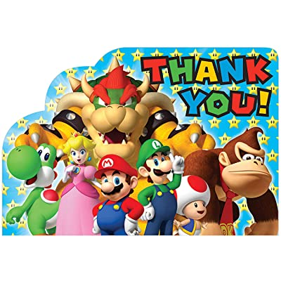 "Super Mario Brothers ""Thank You"" Postcards, Party Favor: Toys & Games"