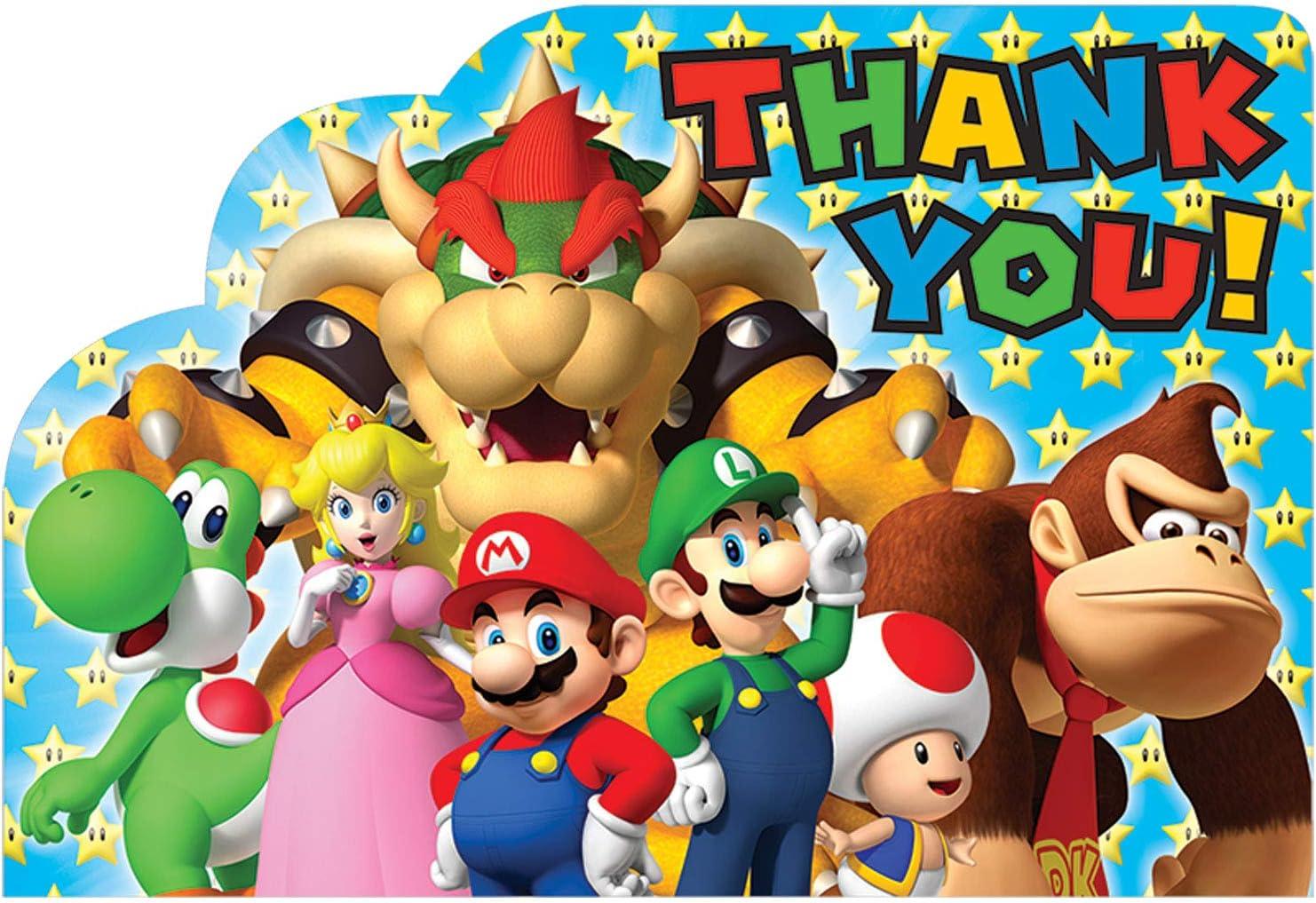 Amscan - Bolsa de regalo para fiesta infantil con temática de Mario Bros: Amazon.es: Juguetes y juegos