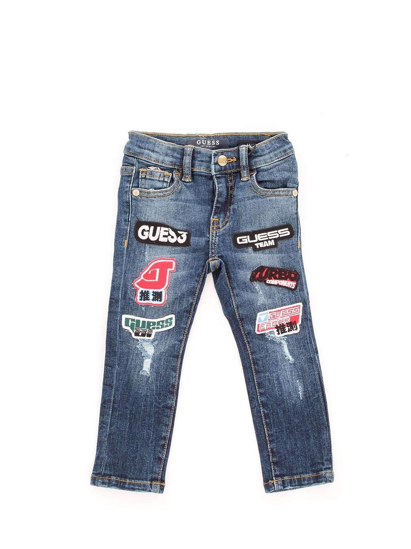 Guess N91A04D3G10 Pantalones Vaqueros niño Azul 4A: Amazon ...