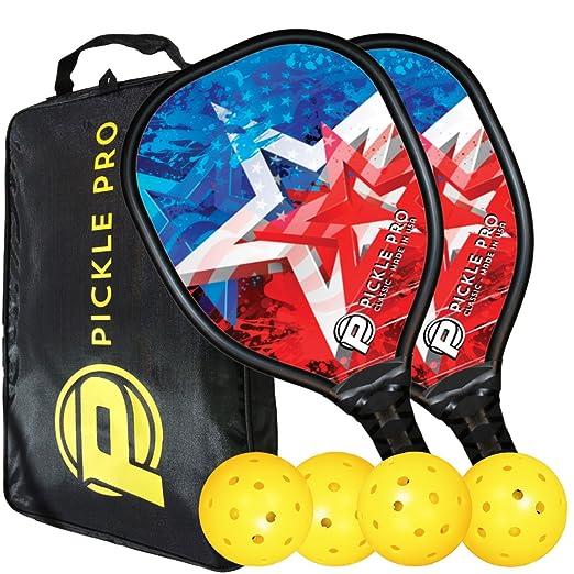 Amazon.com: Pickleball Set w/Composite Remos, bolas, bolsa ...