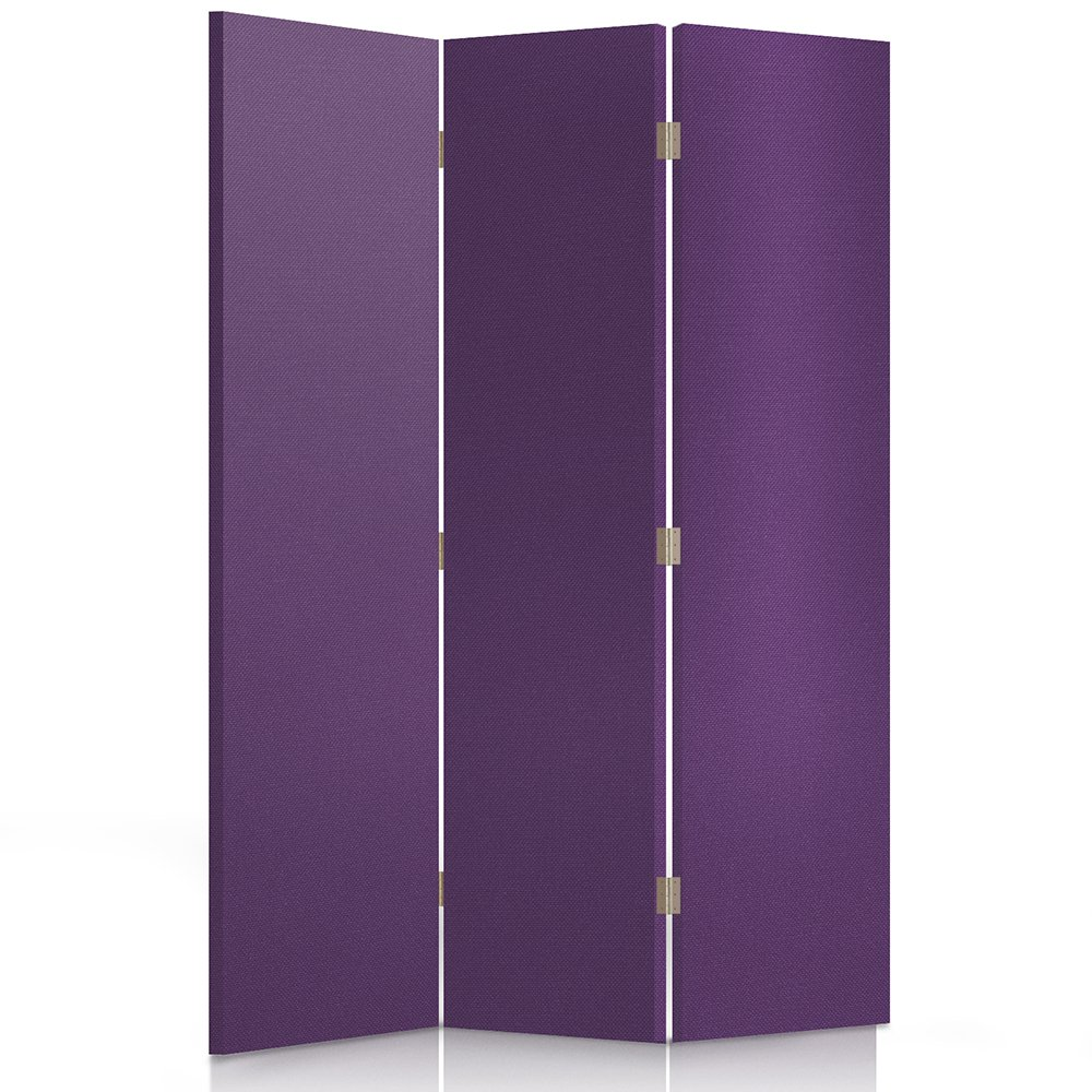 Feeby Frames, Fabric divider screen, Textile Paravent, Canvas Screen, Decorative Room Divider, Single sided, 3 panels (110x150 cm) PURPLE, FABRIC, GLAMOROUS, MODERN