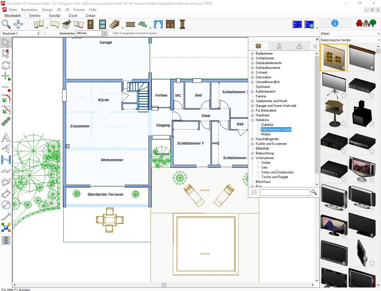 Avanquest Architekt 3D X8 Innenarchitekt - Software de ...