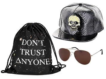 be430fd4cf6ba Kit ensemble de 3 accessoires noir blanc : Sac , Casquette et lunettes  (Outfit Set 5) pas cher ...