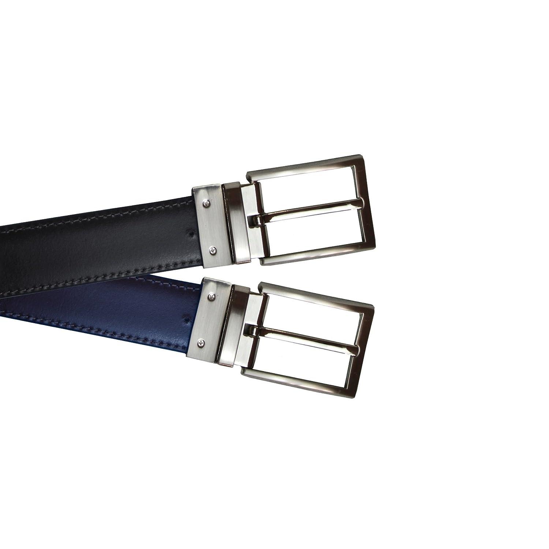 Eastern Counties Leather - Cinturón reversible de cuero para hombre