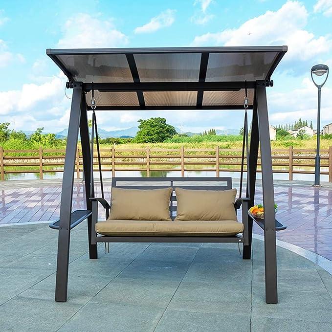 YDLOP Silla para Columpios al Aire Libre, Cojín de Espesamiento de energía Solar Impermeable Silla Mecedora 1130-YY: Amazon.es: Hogar
