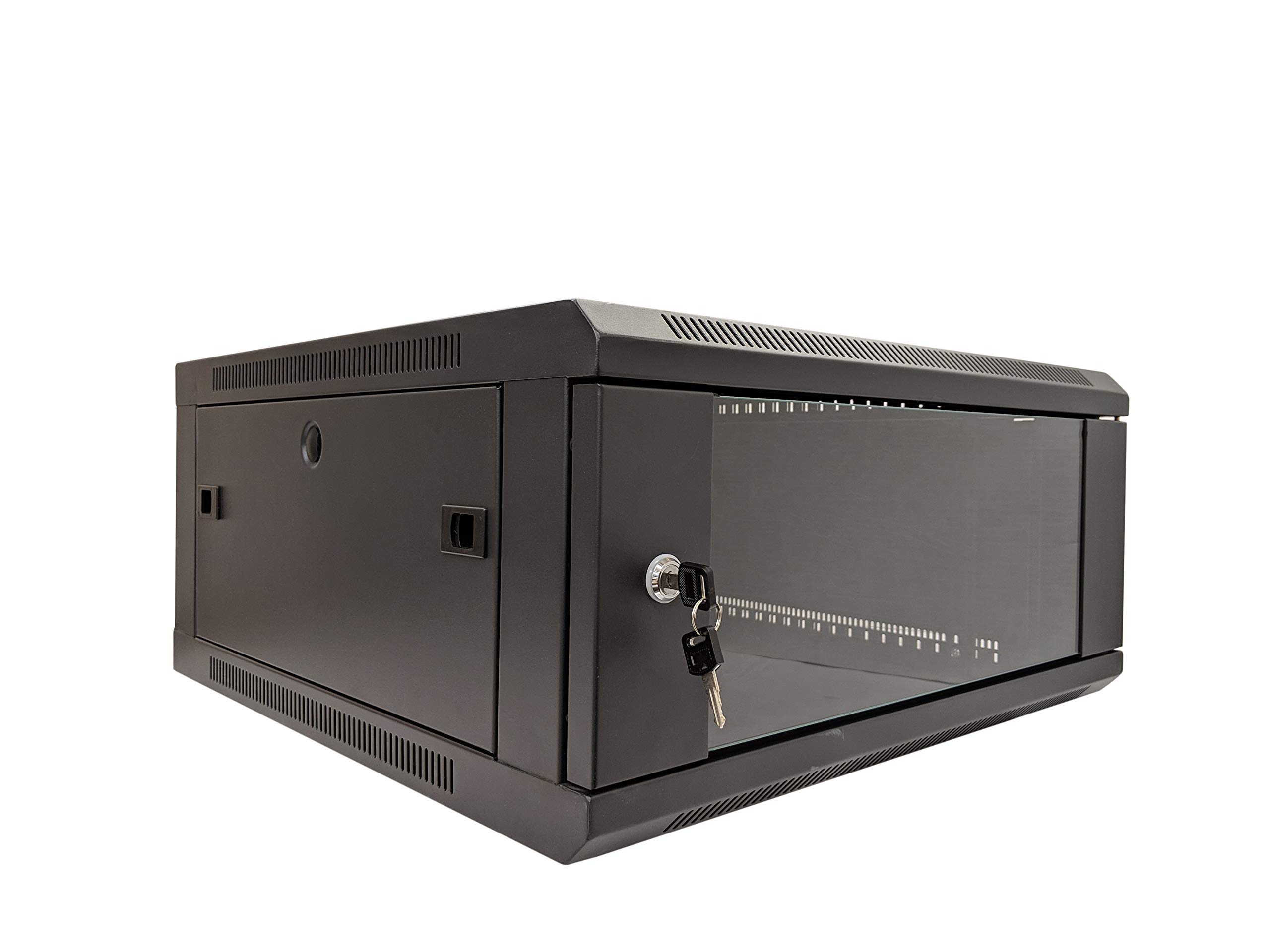 KENUCO [Fully Assembled] LNWW Deluxe IT Wall Mount Cabinet | Server Rack |  Data Network Enclosure 19-Inch Server Network Rack with Locking Tempered