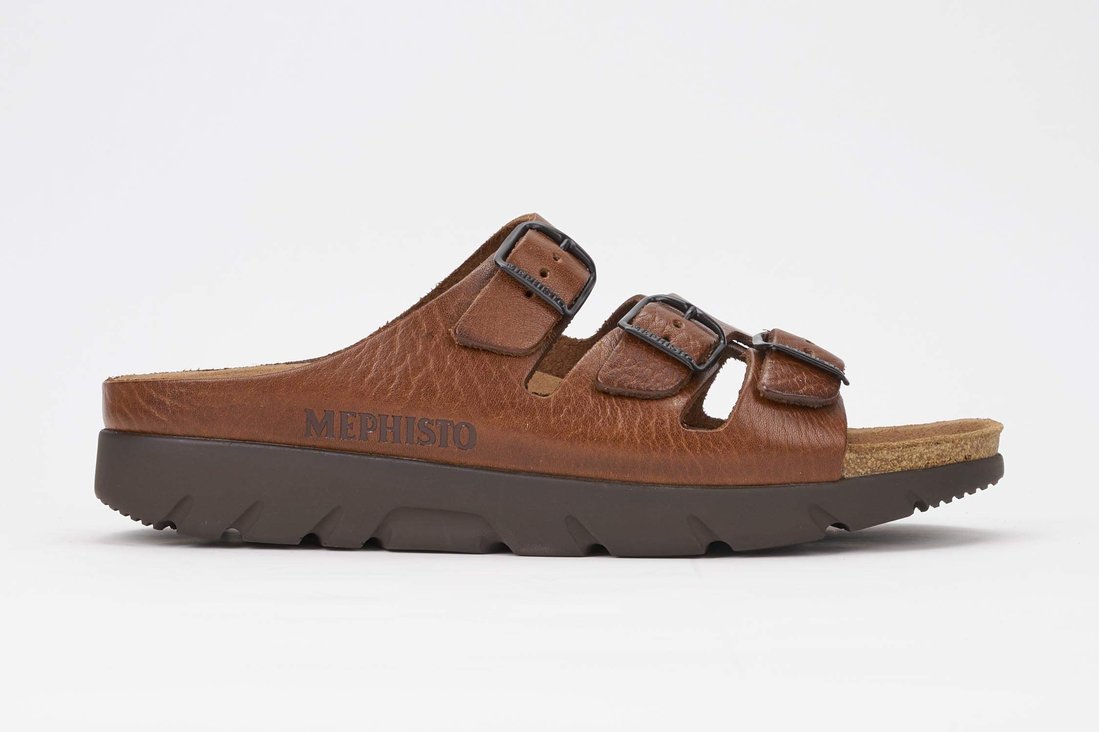 Mephisto Men's Zach Sandals Tan Grain Leather 12 M US