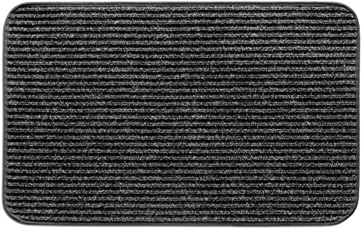 Prest-O-Fit 3-Pack 2-4125 Ruggids Universal RV Step Rug Charcoal Black 22 in Wide