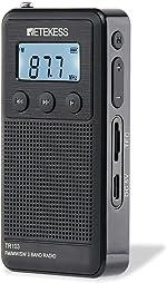 Retekess TR103 AM FM SW Pocket Radio, Personal Portable Radio with