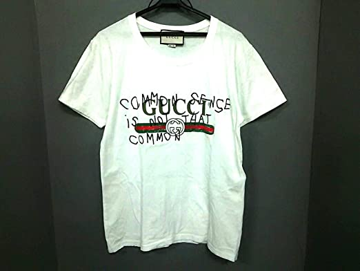 760293892d0f Amazon   (グッチ) GUCCI Tシャツ 半袖Tシャツ メンズシェリー 白×マルチ ...
