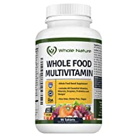 Whole Food Multivitamin for Men and Women : Whole Nature Complete Daily Superfood...