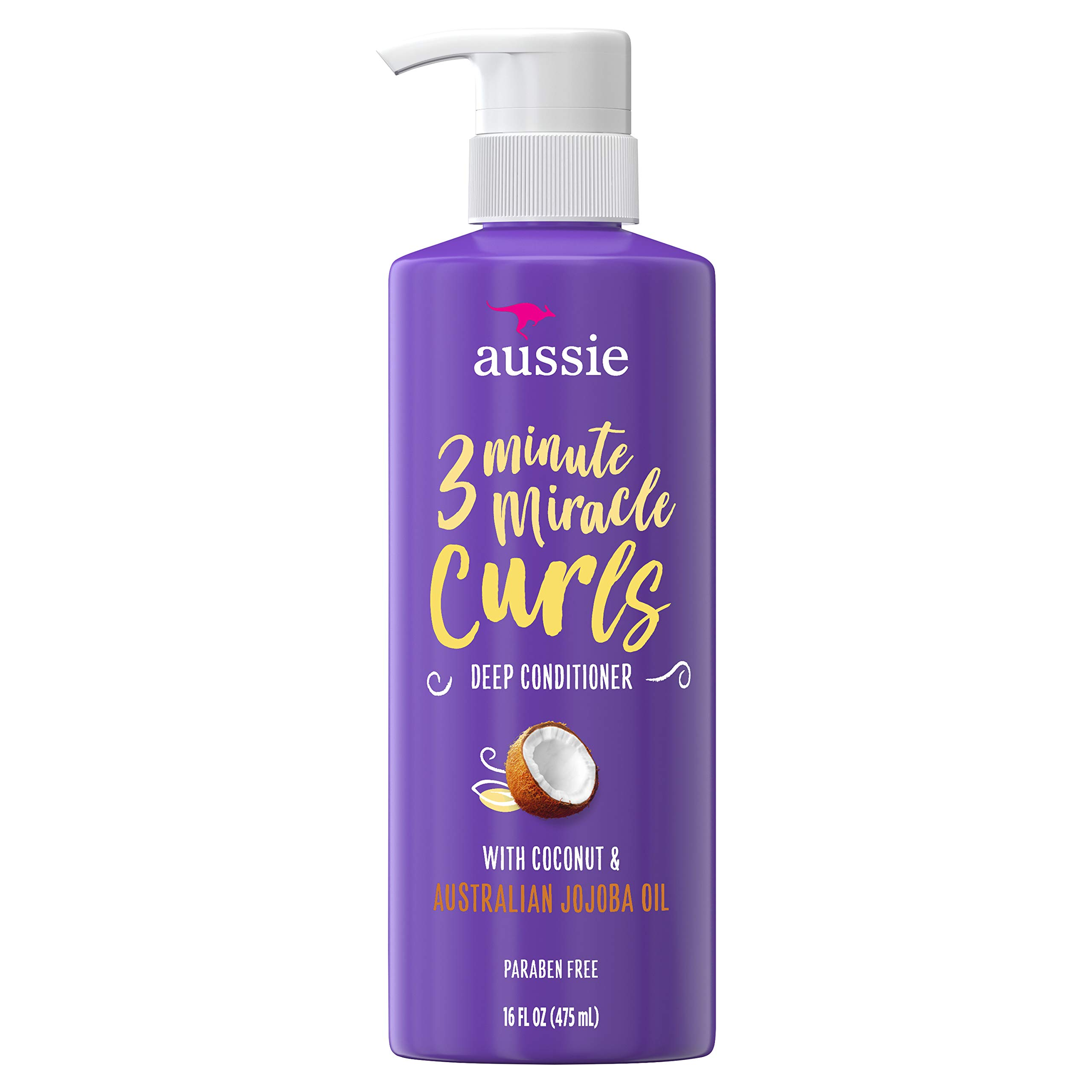 Aussie 3 Minute Miracle Curls Conditioner 16 Ounce Pump (475ml), SG_B079DGGVJ6_US