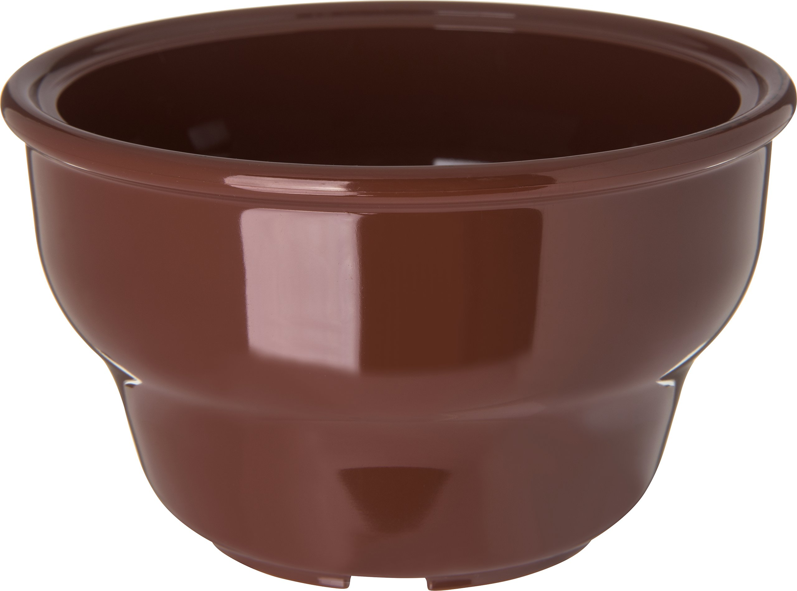 Carlisle 455328 Melamine Deep Salsa Bowl, 8-oz. Capacity, 2.37'' Height x 4.12'' Lip Diameter , Lennox Brown (Case of 36)