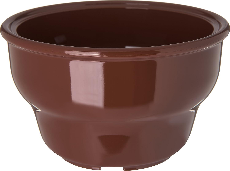 Carlisle 455328 Melamin Schale tief Salsa, 8-oz. Kapazität, 6 cm Höhe x 10,5 cm Lippe Durchmesser, Lennox braun (Fall von 36)