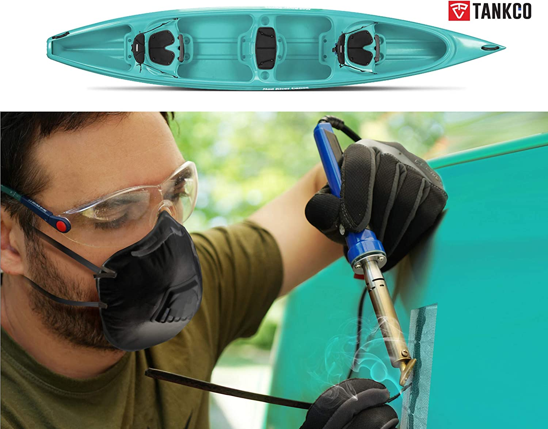 tank NEW GENERATION TANKCO Plastic Welding Repair Kit Welder Tools for Car Bumper Canoe Kayak Stainless Steel Mesh 80W Iron adjustable temperature 25 black Rods