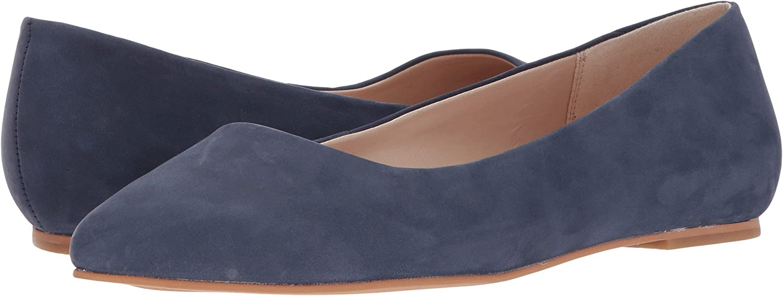 Dr. Scholl's Original Collection Women's Kimber Pointed Toe Flat B06Y3SHNM4 11 C/D US|Dress Blue Nubuck