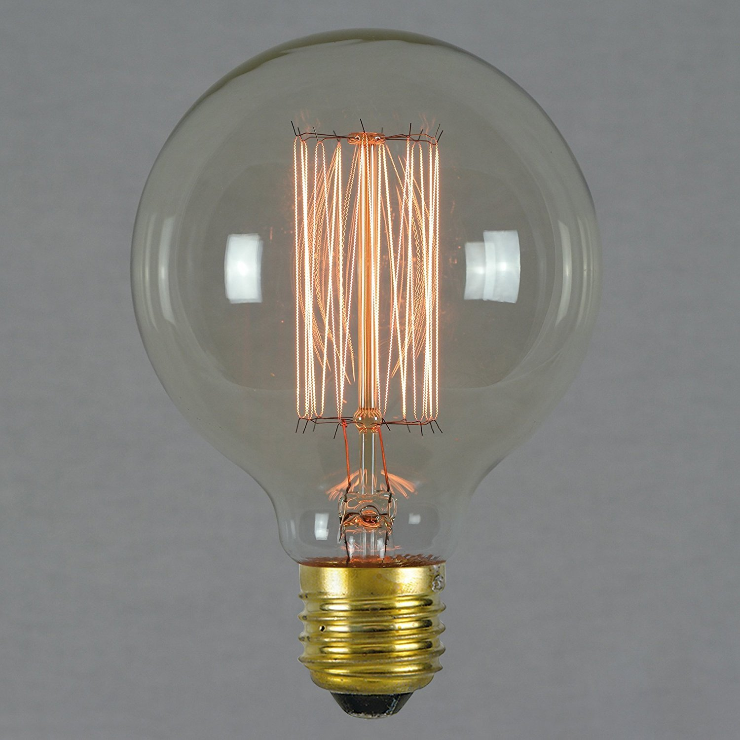 LED Sone Vintage Edison Light Bulbs Retro Old Fashioned Style Screw Bulb Dimmable Decorative Spiral Filament Lamp E27 220-240V 60W Warm White Lights Uk (G95 60W E27)