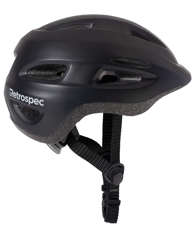 Retrospec Scout-1 Bike Skate Helmet CPSC Approved Ages 1-10, Matte Black, S 49-53cm