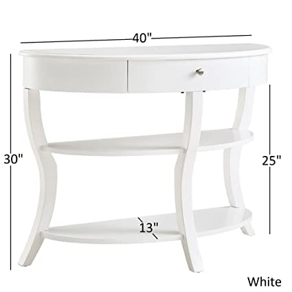 Swell Amazon Com Traditional Rounded 1 Drawer Wood Console Table Gmtry Best Dining Table And Chair Ideas Images Gmtryco