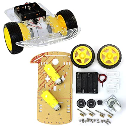 2019 New Style Avoidance Tracking Motor Smart Robot Car Chassis Kit Speed Encoder Battery Box 2wd Ultrasonic Module For Arduino Kit 2019 New Fashion Style Online Integrated Circuits Active Components