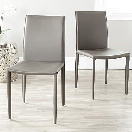 Safavieh Home Collection Karna Modern Grey Dining Chair (Set Of 2)
