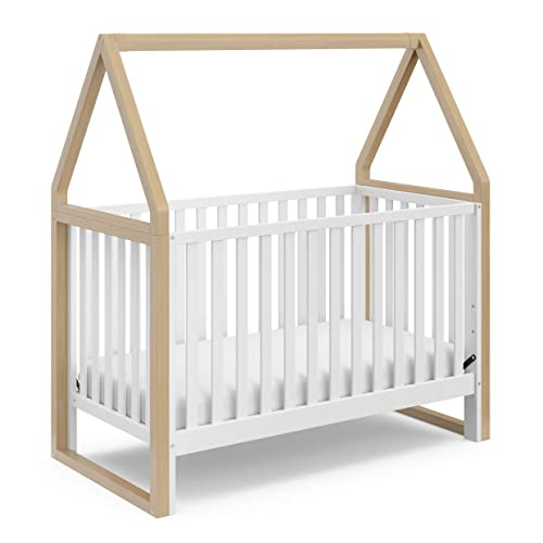 Storkcraft Orchard 5-in-1 Convertible Crib Driftwood Easily Converts to Toddler Bed