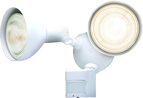 Heath Zenith HZ-5412-WH 180 Degree Motion Activated Security Light, White