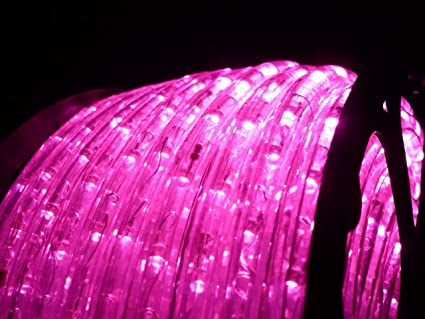 Amazon 150ft rope lights 3wires pink chasing led rope light 150ft rope lights 3wires pink chasing led rope light kit christmas lighting outdoor aloadofball Gallery