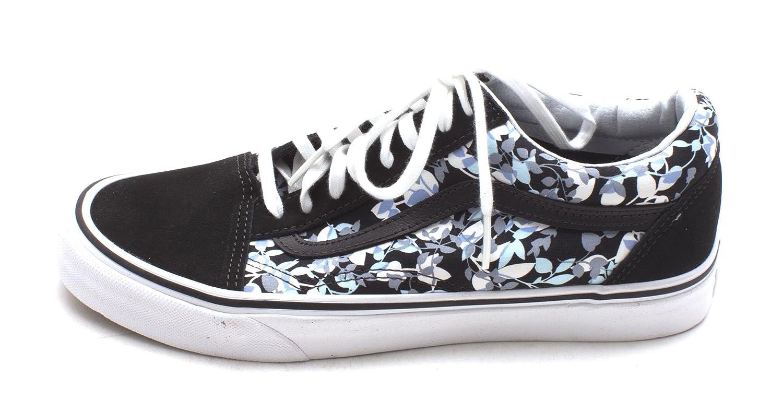 Vans Unisex Old Skool Classic Skate Shoes B01C7RDBL8 7.5 B(M) US|(Reverse Floral) Blk/Trwht