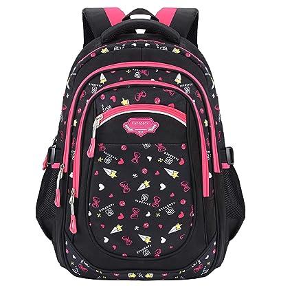 Cartable Fille Primaire, Fanspack Cartable Fille Sac a Dos Fille Sac Enfant Sac Ecole Fille Cartable Enfant