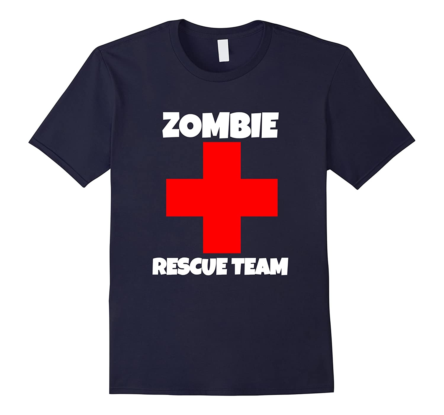 Zombie Outbreak Rescue team shirt halloween novelty gift-FL