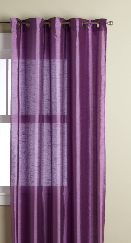 Editex Home Textiles Elaine Faux Silk Window Panel, 58 by 95-Inch, Lilac