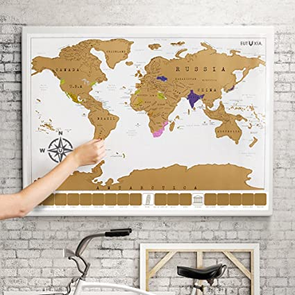 eutuxia scratch off world map poster mark and track the places youve traveled
