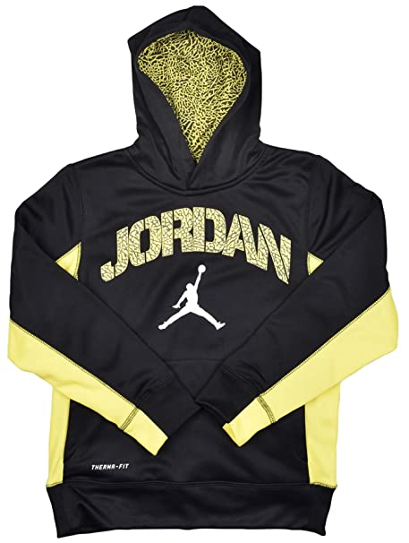 eed7772a0840 Amazon.com  Jordan Big Boys (8-20) Therma-Fit Ele Jumpman Hoodie ...