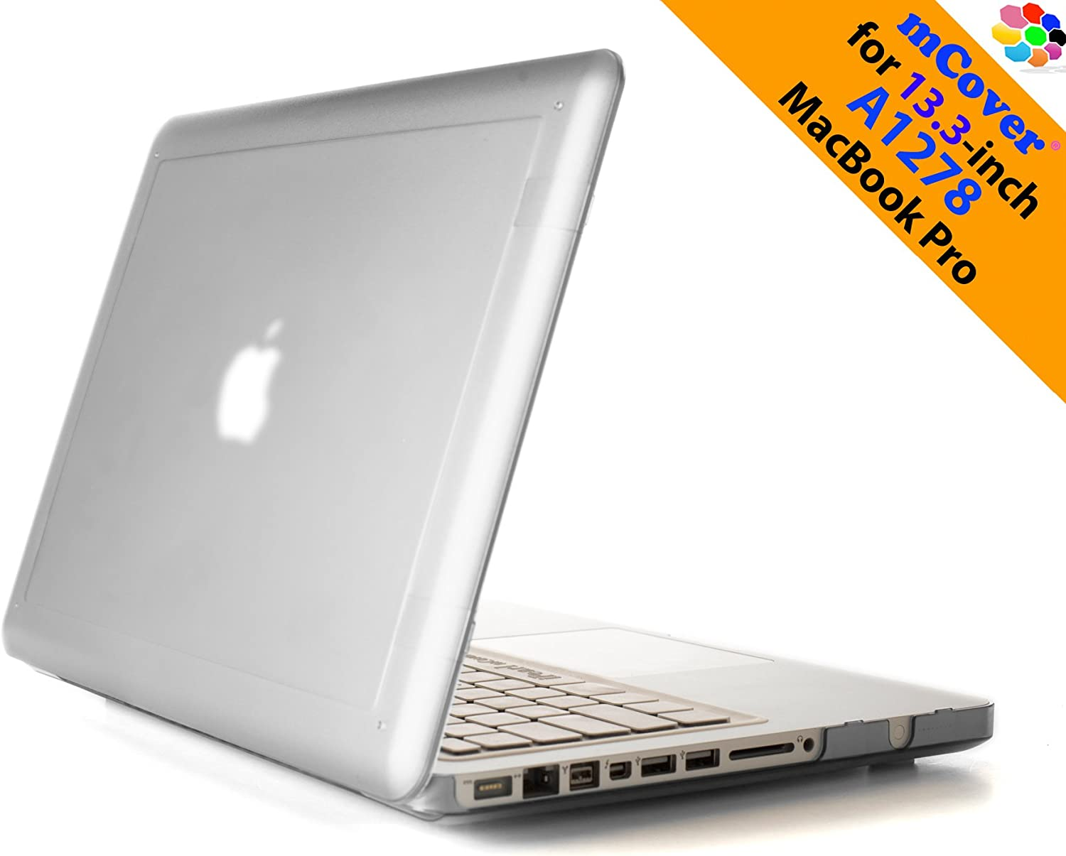 iPearl mCover Hard Shell Case with FREE keyboard cover for Model A1278 13.3-inch Regular display Aluminum Unibody MacBook Pro - CLEAR