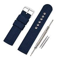 Vinband Cinturini Orologi Alta qualità Tela di canapa Orologi Bracciale Militari dell'esercito - 16mm, 18mm, 20mm, 22mm, 24mm Cinturino Orologio Addensare Dell'acciaio Inossidabile